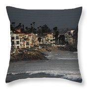 Oceanside California Beach Front Throw Pillow