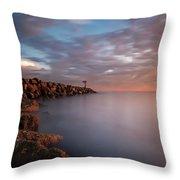Oceanside Jetty Throw Pillow