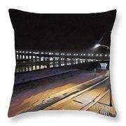 Oceanside Pier At Night  Throw Pillow