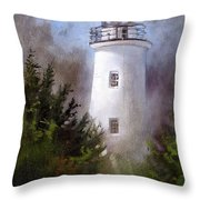 Ocracoke Light Throw Pillow