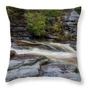 October Morning On The Peterskill II Throw Pillow