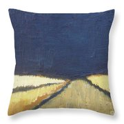 October Night Fields Throw Pillow