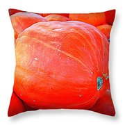 October Pumpkin Throw Pillow