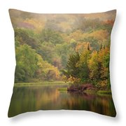 October Reflections II Throw Pillow by Jeff Phillippi