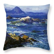 Off Mission Point Aka Point Lobos Throw Pillow
