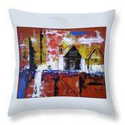 Off Some Forgotten Highway Throw Pillow