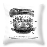 Offensive Remarks Throw Pillow