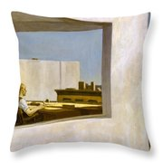 Office In A Small City  Throw Pillow
