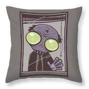 Office Zombie Throw Pillow