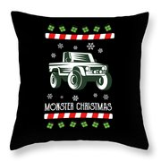 Offroad Monster Truck Christmas Xmas Winter Holidays Throw Pillow