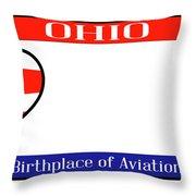 Ohio License Plate Throw Pillow