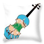 Oklahoma State Fiddle Throw Pillow