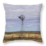Oklahoma Windmill Throw Pillow