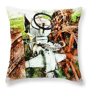 Old 1921 Fordson  Throw Pillow by Mark Allen