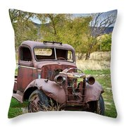 Old Abandoned Chevy Truck Throw Pillow