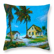 Old Bahama Road Throw Pillow