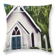 Old Church Copake Falls Throw Pillow