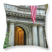 Old City Hall Of Boston Throw Pillow