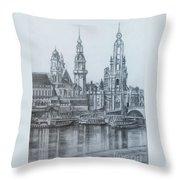 Old City Of Dresden- Dresden Throw Pillow