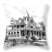 Old Daly Mansion Hamilton Montana Throw Pillow