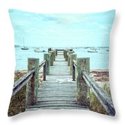 Old Dock Hyannis Port Cape Cod Ma Throw Pillow