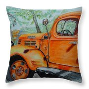 Old Dodge Truck At Patterson Farms Throw Pillow