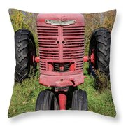 Old Farmall Vintage Tractor Springfield Nh Throw Pillow