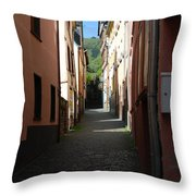 old historic lane in Cochem Germany Throw Pillow