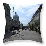 Old Montreal Market Throw Pillow