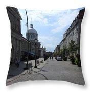 Old Montreal Market Throw Pillow