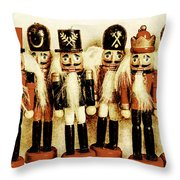 Old Nutcracker Brigade Throw Pillow