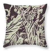 Old Nyc Decorations Throw Pillow