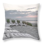 Old Orchard Beach Tranquil Morning Throw Pillow