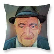Old Portrait. Throw Pillow