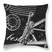 Old Postage Insignia Throw Pillow