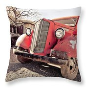 Old Red Truck Jerome Arizona Throw Pillow