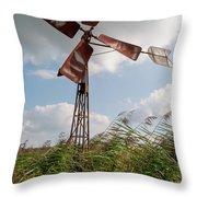 Old Rusty Windmill. Throw Pillow