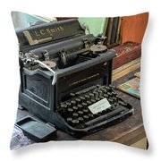 Old Style Texting Throw Pillow