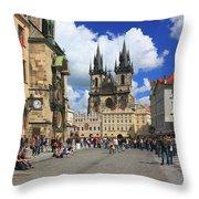 Old Town Square Prague Czech Republic  Throw Pillow