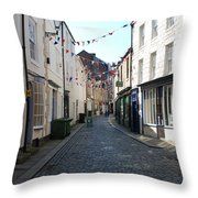 old town street in Hexham Throw Pillow