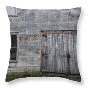 Old Trackside Warehouse Throw Pillow
