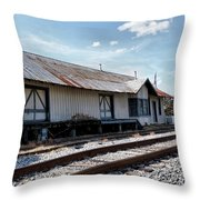 Old Train Depot In Gray, Georgia 2 Throw Pillow