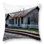 Old Train Depot In Gray, Georgia 1 Throw Pillow