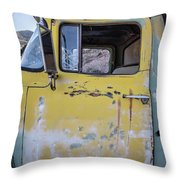 Old Vintage Dump Truck Throw Pillow