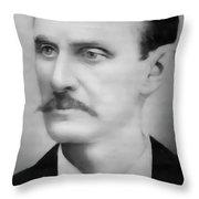 Old West Gunslinger Doc Holliday Throw Pillow