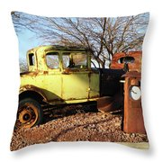 Old Yellow Coupe Throw Pillow