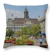 Olde Montreal Throw Pillow