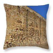 Oldest Castle Of Castro Marim Throw Pillow