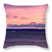 Olympic Mountains, Washington Throw Pillow