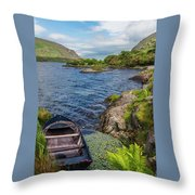 On A Lake Of Blue Throw Pillow